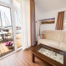 Wohnzimmer mit Meeblick Haus Hiddensee