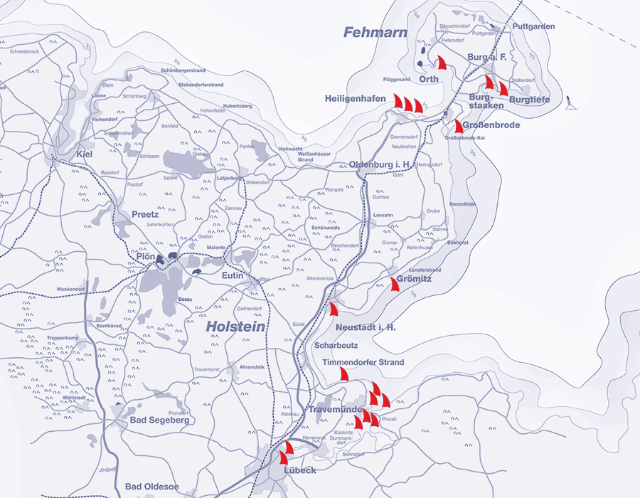 Wo Liegt Schwanitz Ostsee Karte.Ostsee Routenplaner Ostholstein Lübeck Fehmarn Das Hafendorf
